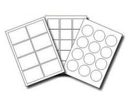 A4 Sheet Plain Labels